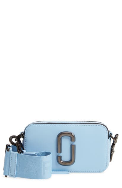 The Marc Jacobs Snapshot Split Crossbody Camera Bag In Dreamy Blue
