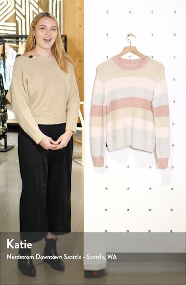 Stripe Merino Wool Blend Sweater, sales video thumbnail