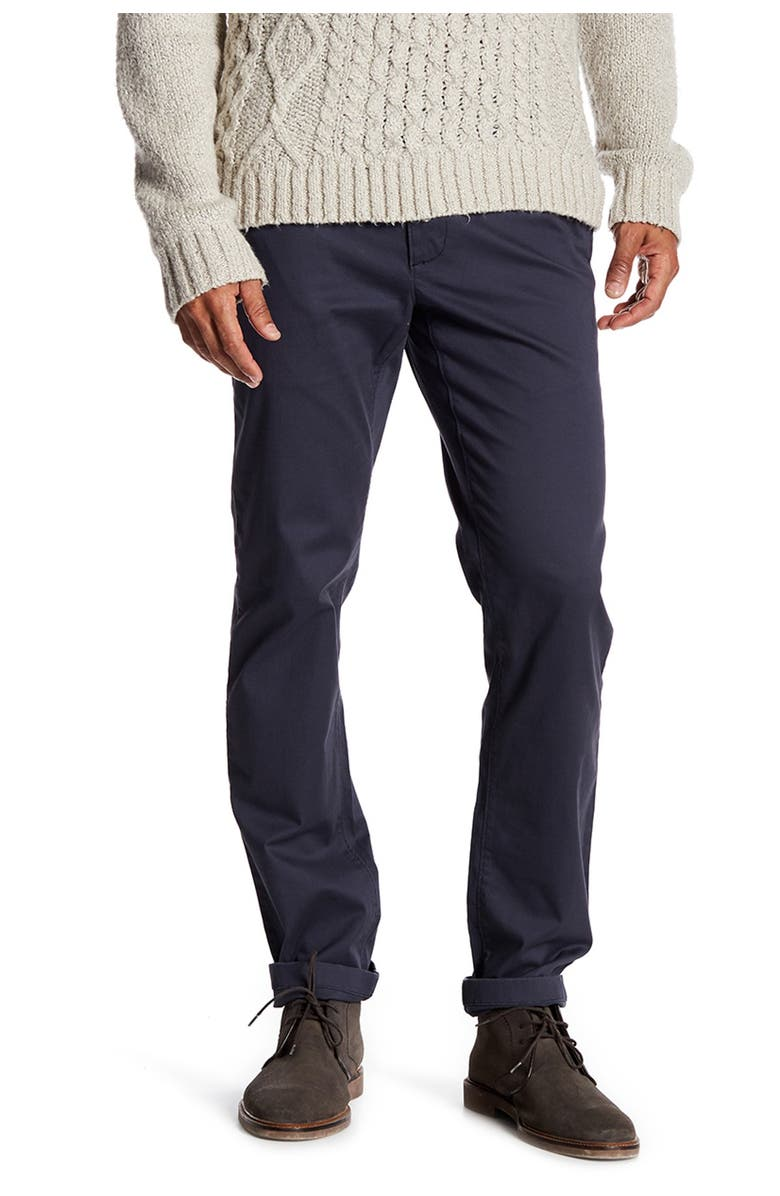 """14TH AND UNION The Wallin Stretch Twill Chino Pants - 30-34"""" Inseam, Main, color, NAVY INDIA INK"""