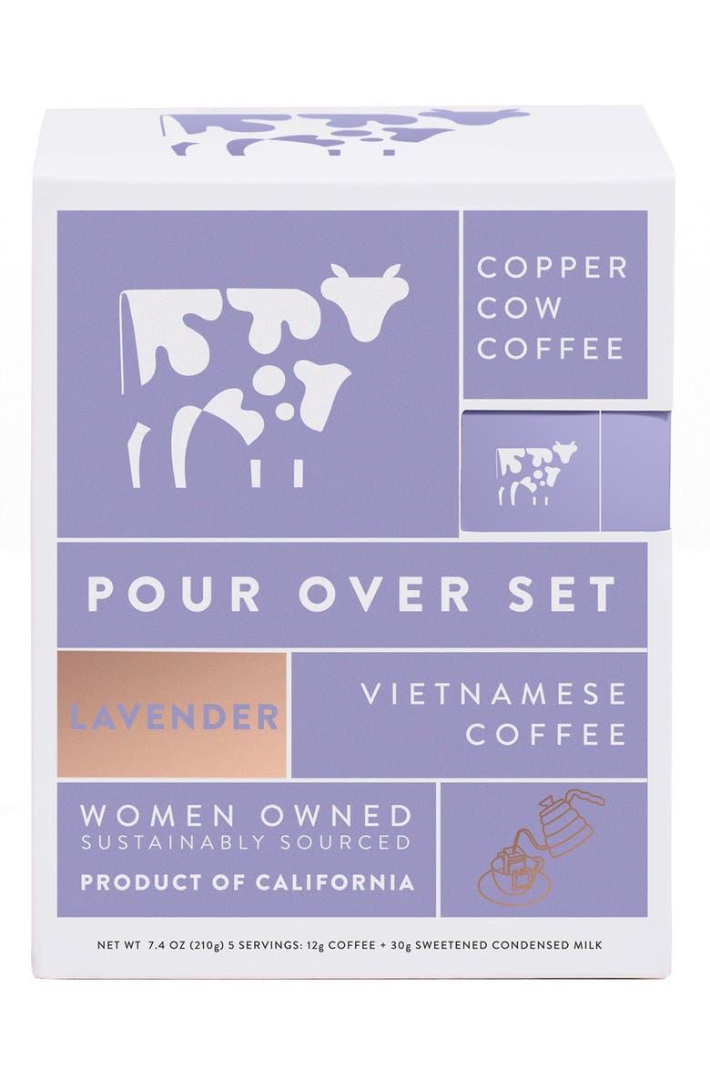 COPPER COW COFFEE Lavender Latte 5-Pack Kit, Main, color, 500