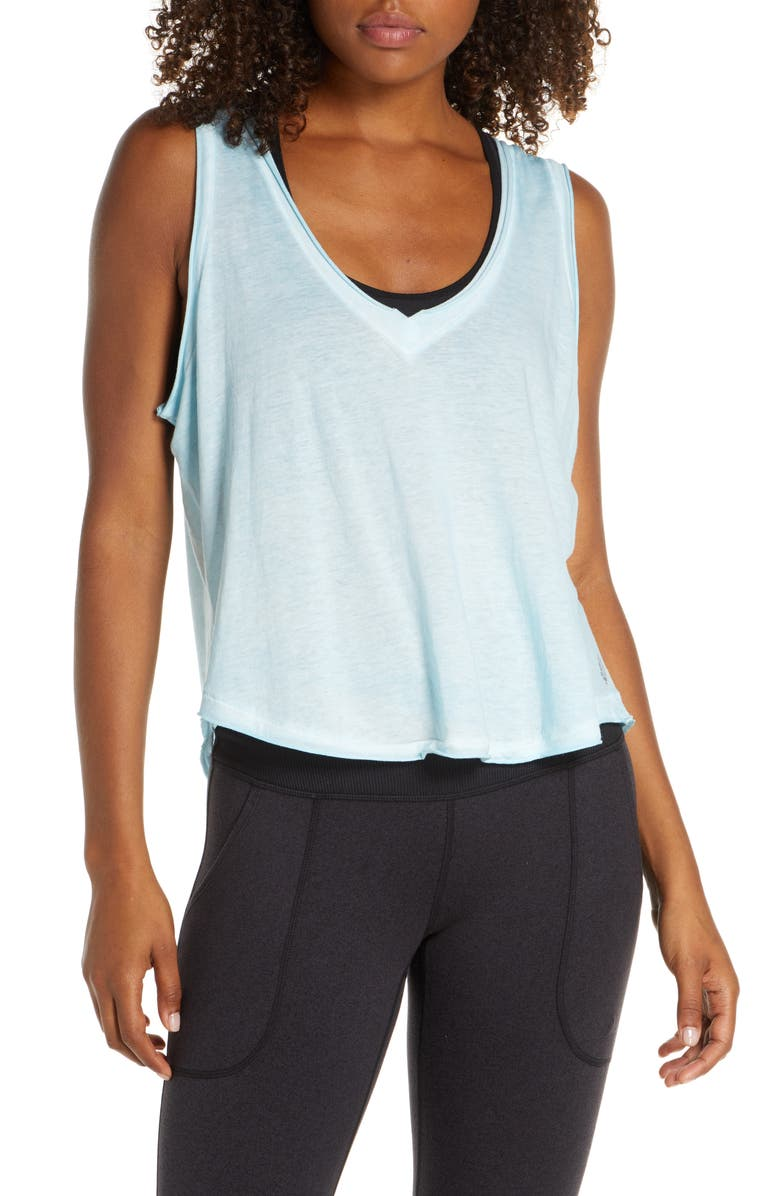 FREE PEOPLE MOVEMENT Henry Tank Top, Main, color, LT BLUE