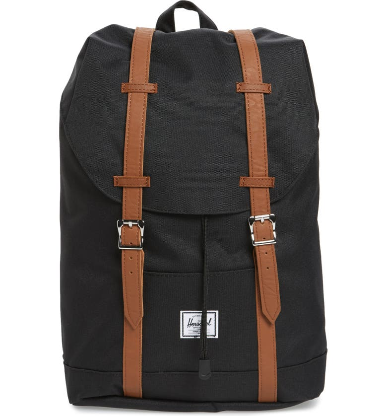 HERSCHEL SUPPLY CO. Retreat Mid Volume Backpack, Main, color, BLACK