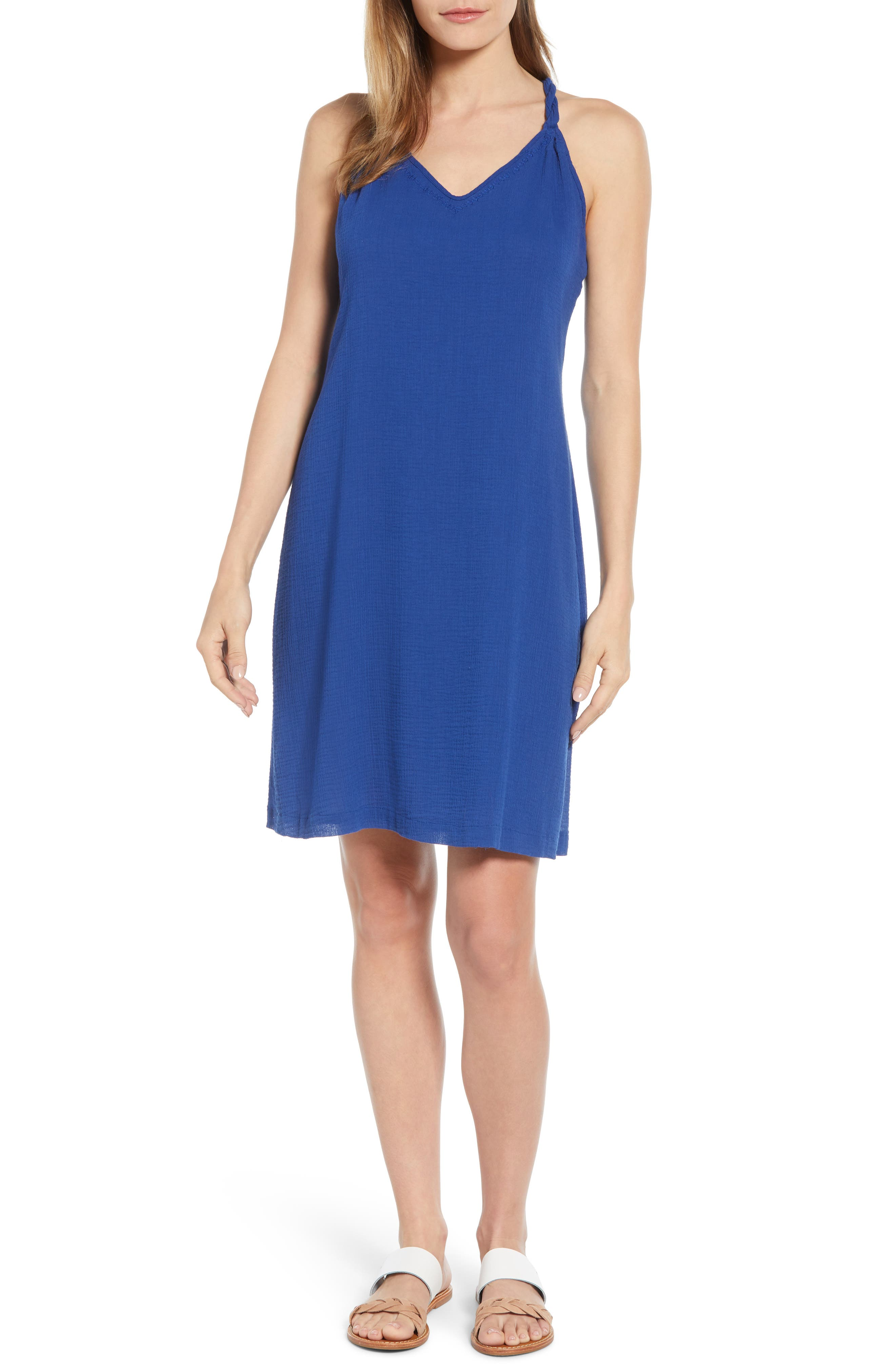 Tommy Bahama Coastview Cotton Gauze Dress, Blue