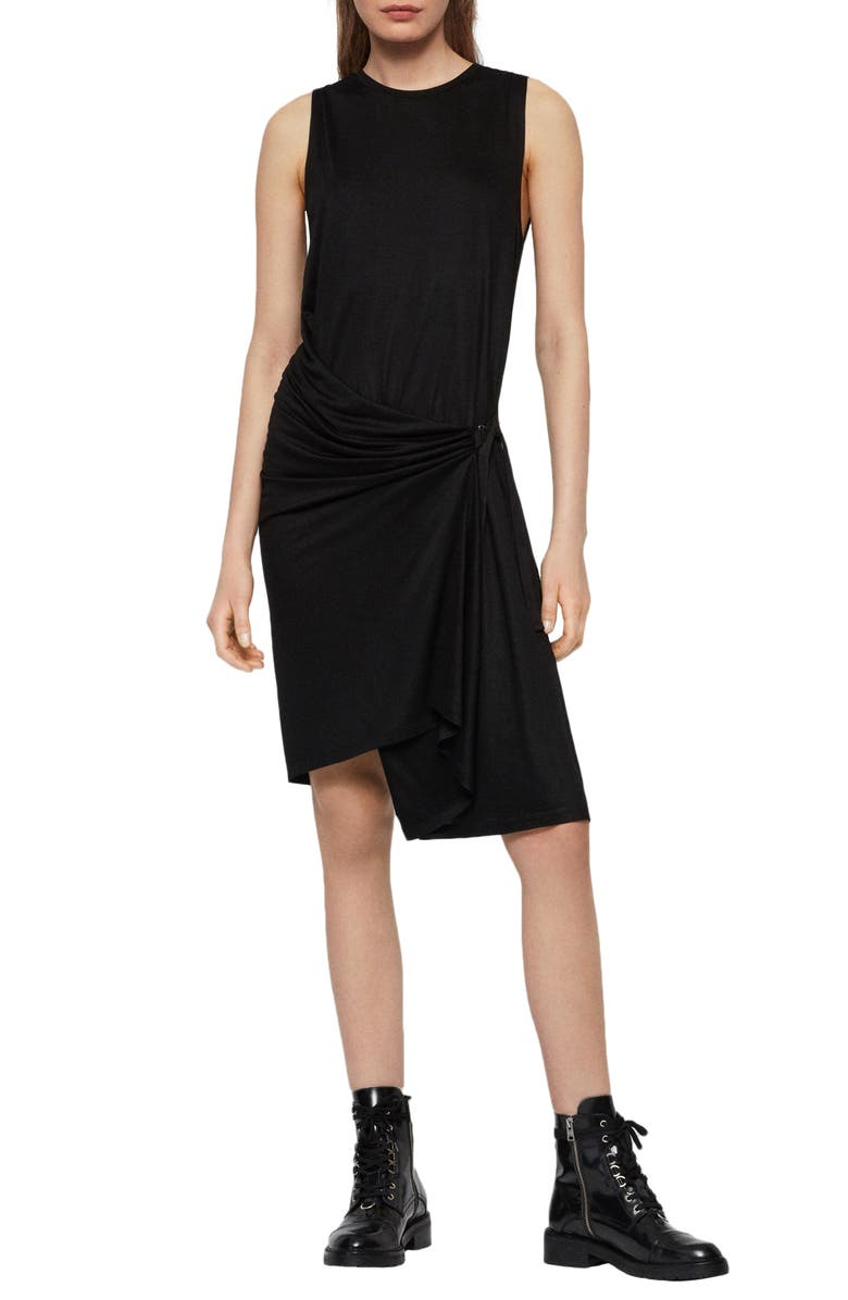 ALLSAINTS Lisen Dress, Main, color, BLACK