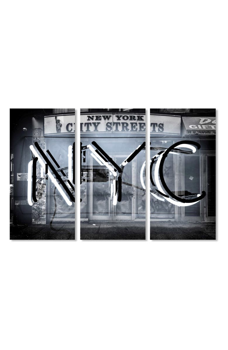 OLIVER GAL NYC Canvas Triptych Wall Art, Main, color, BLACK