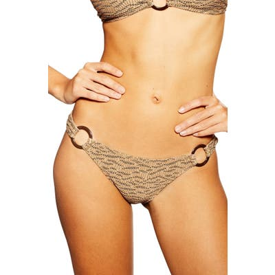 Topshop Jacquard Bikini Bottoms, US (fits like 0-2) - Brown