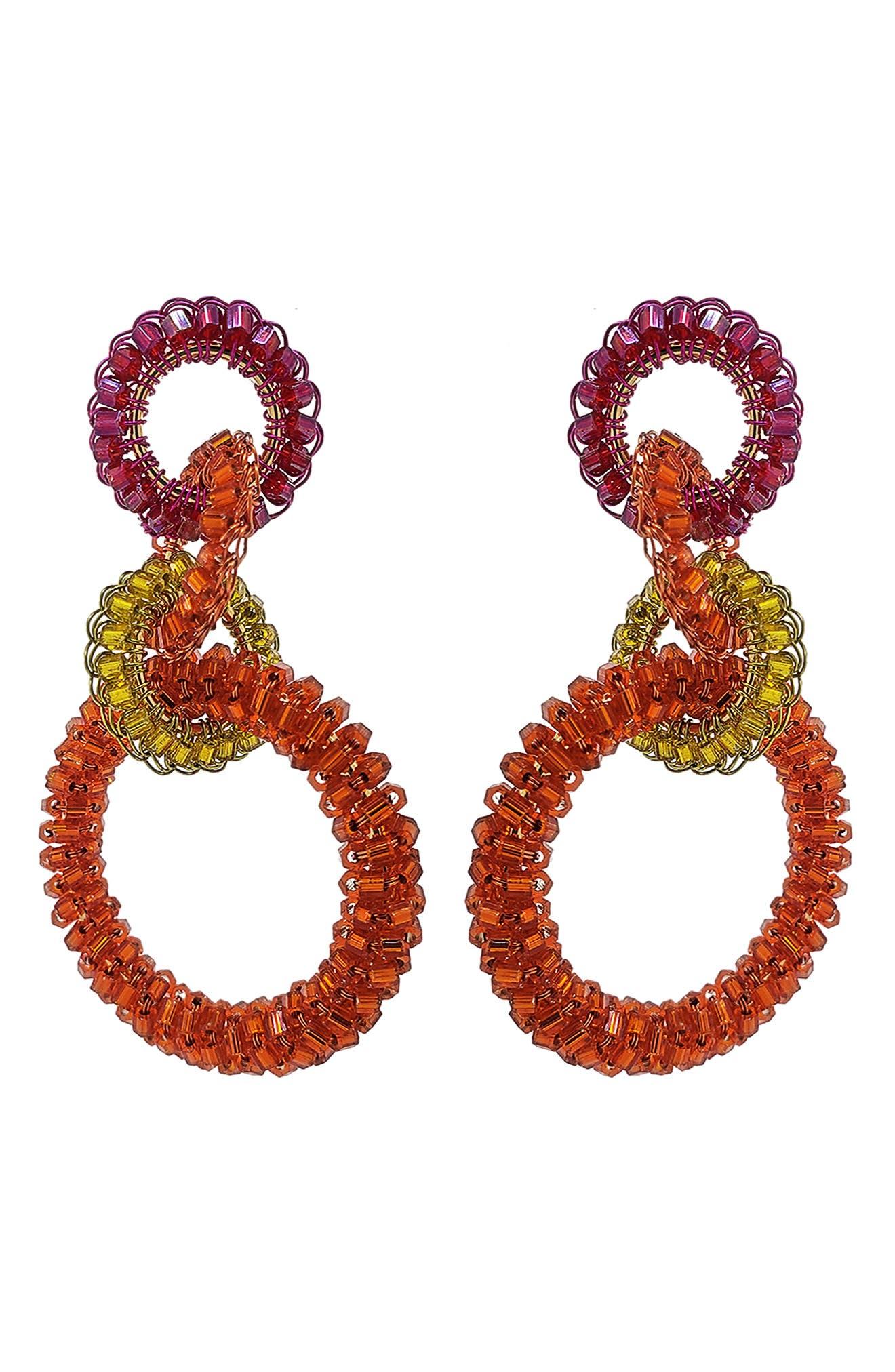 Interlocked Links Drop Earrings