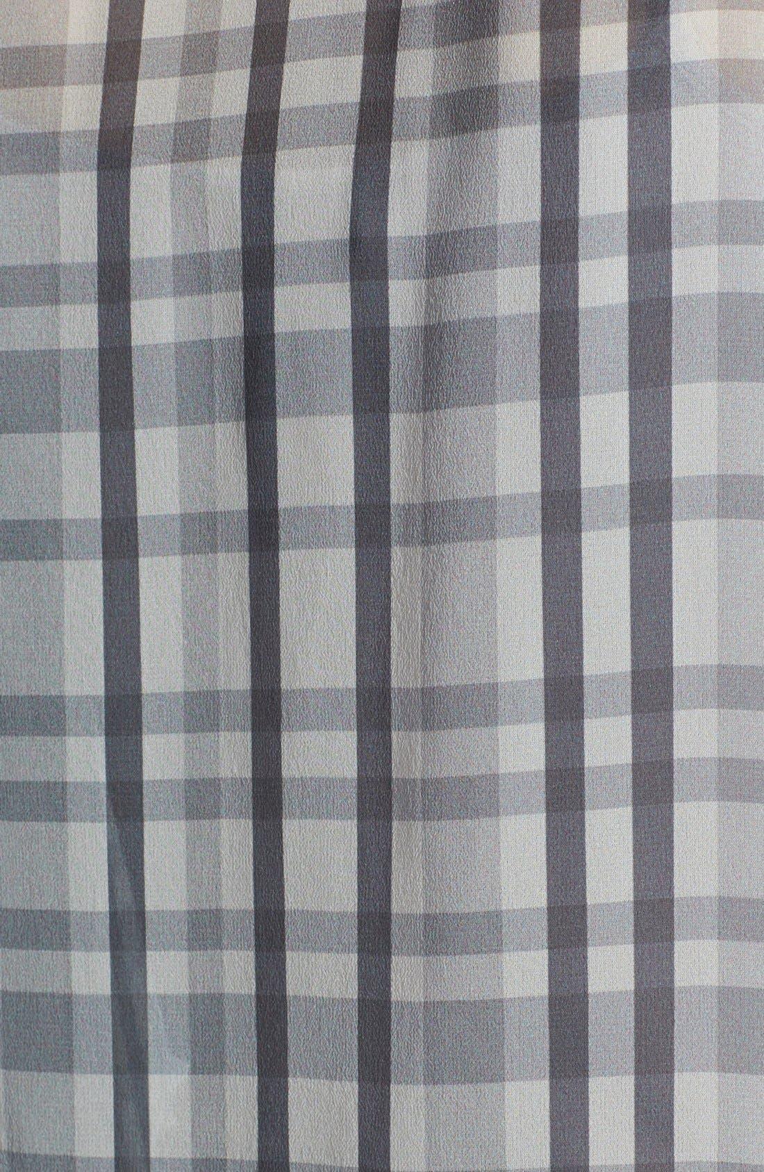 ,                             Denim 'Audrey' Mixed Print Silk Shirt,                             Alternate thumbnail 3, color,                             020