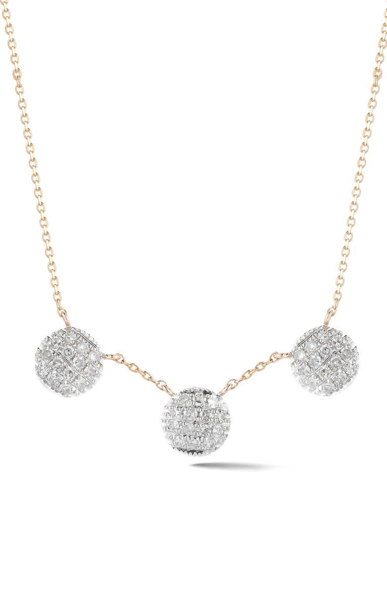 DANA REBECCA DESIGNS Lauren Joy Three-Disc Diamond Necklace, Main, color, 710