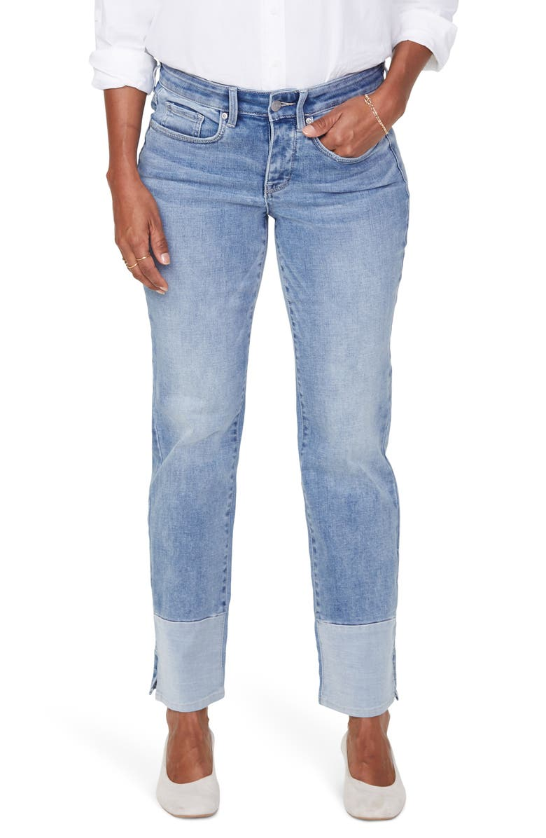 NYDJ Marilyn High Waist Pieced Slit Ankle Jeans, Main, color, 452
