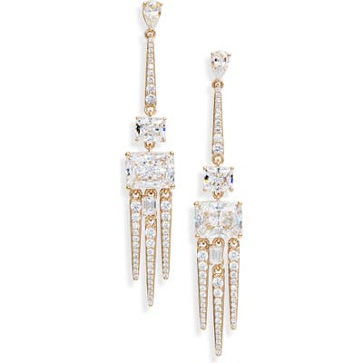 Nadri Rae Triple Spike Drop Earrings