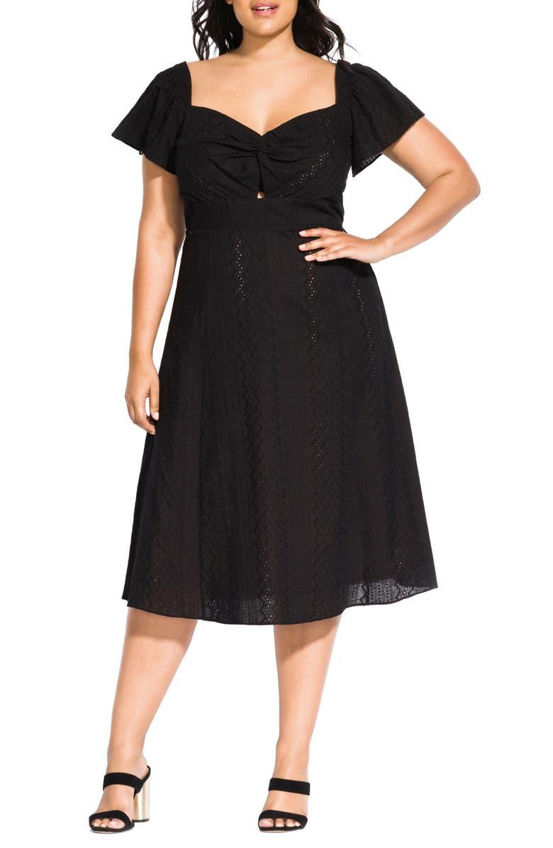 City Chic Pretty Eyelet Dress (Plus Size) | Nordstrom