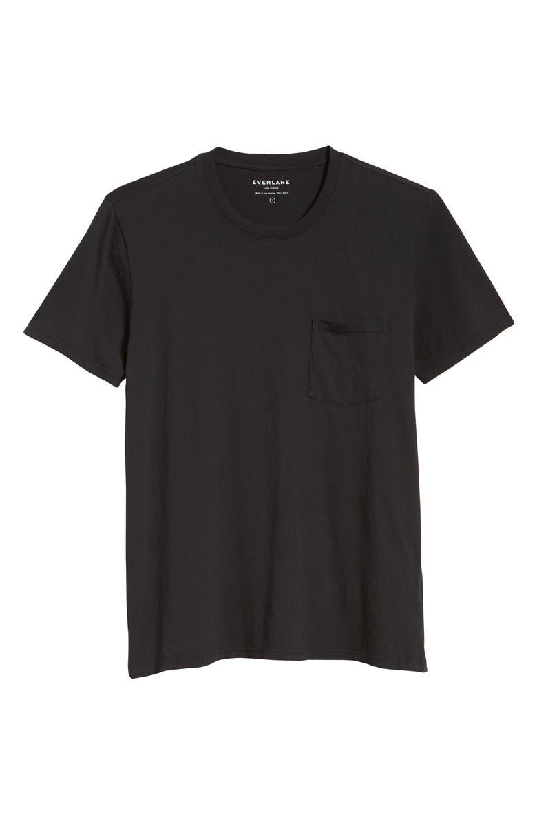 EVERLANE Uniform The Cotton Pocket T-Shirt, Main, color, 001