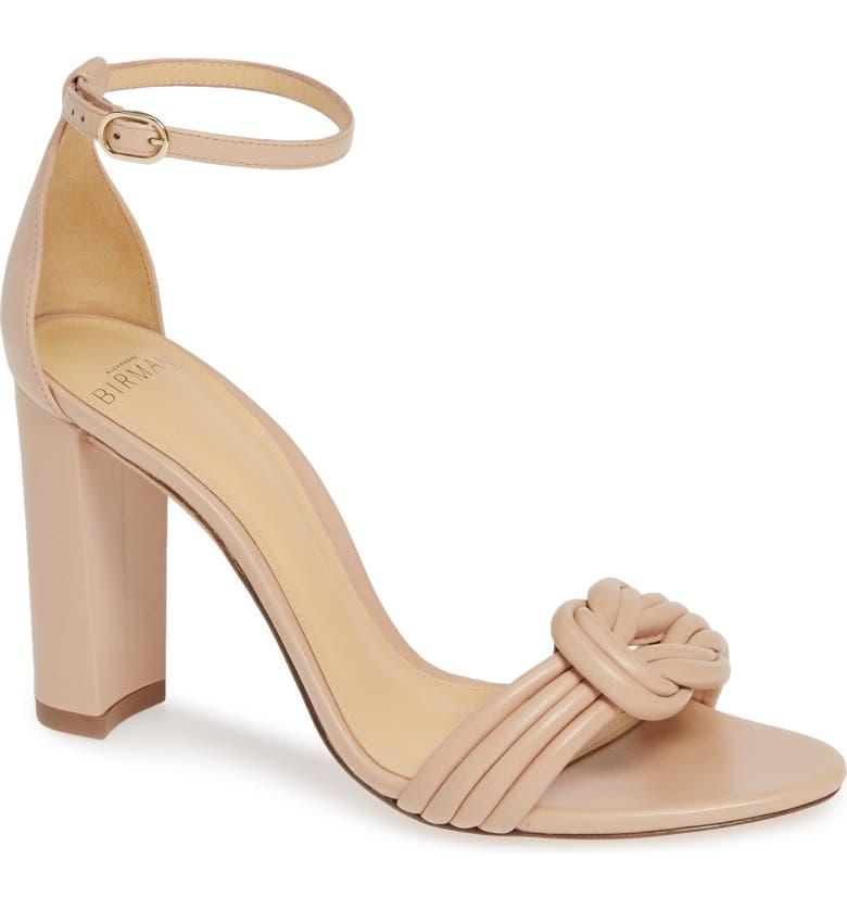 ALEXANDRE BIRMAN Chiara Knot Ankle Strap Sandal, Main, color, LIGHT SAND