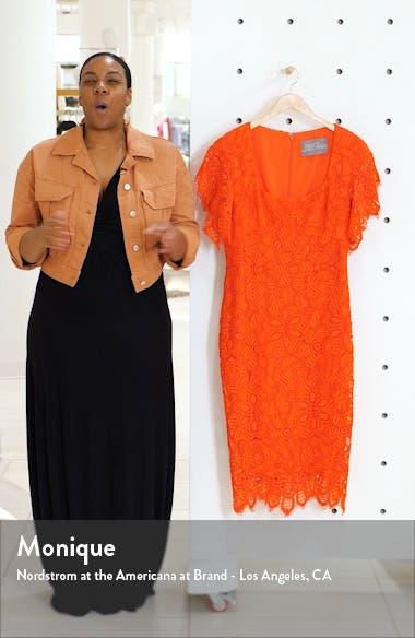 Flutter Sleeve Eyelash Lace Midi Dress, sales video thumbnail