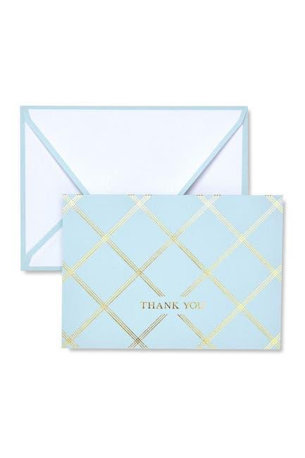 Image of GARTNER STUDIOS Blue & Gold Foil Thank You Cards - 60-Count