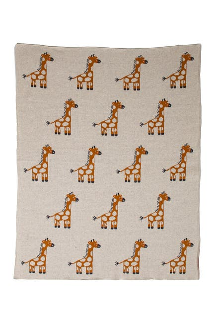 """Image of Parkland Collection Amy Grande Transitional Ivory Knitted 32"""" x 40"""" Baby Blanket"""