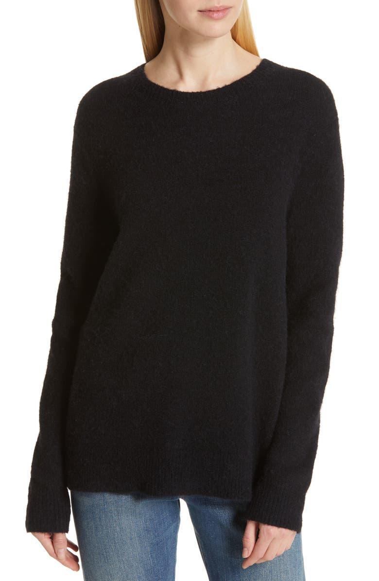 JENNI KAYNE Crewneck Sweater, Main, color, BLACK