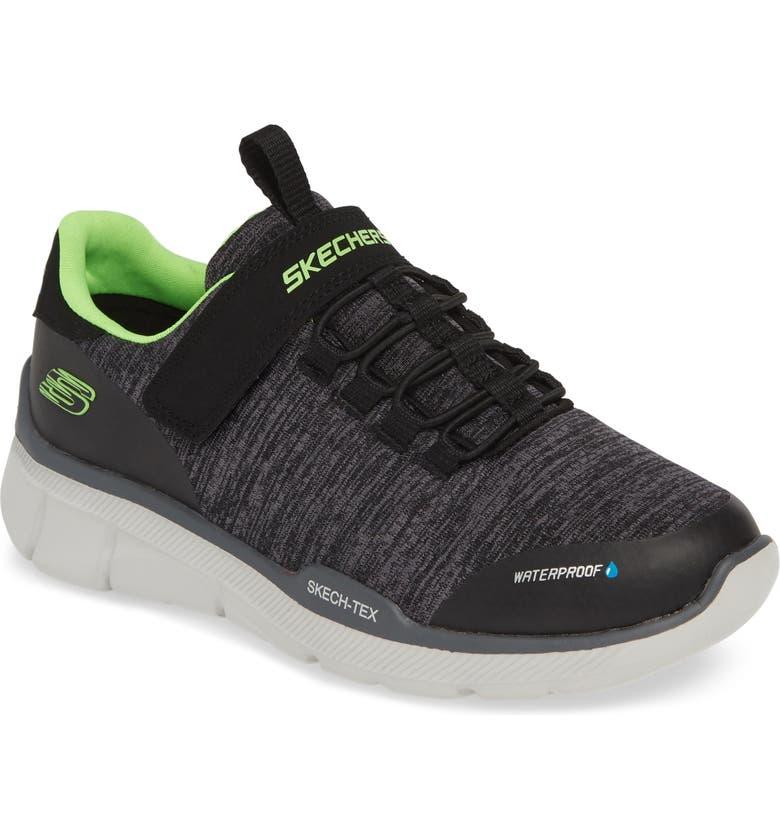 SKECHERS Equalizer 3.0 Waterproof Sneaker, Main, color, BLACK/ CHARCOAL