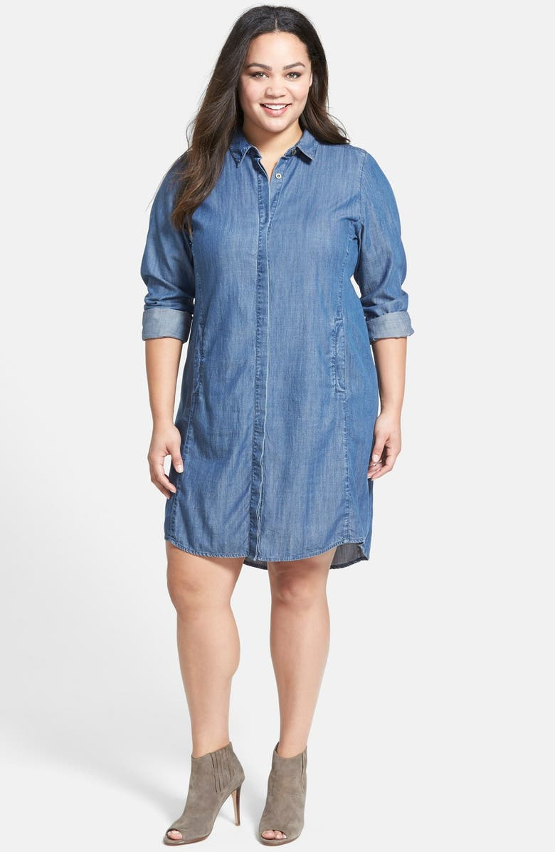 Classic Collar Chambray Shirtdress