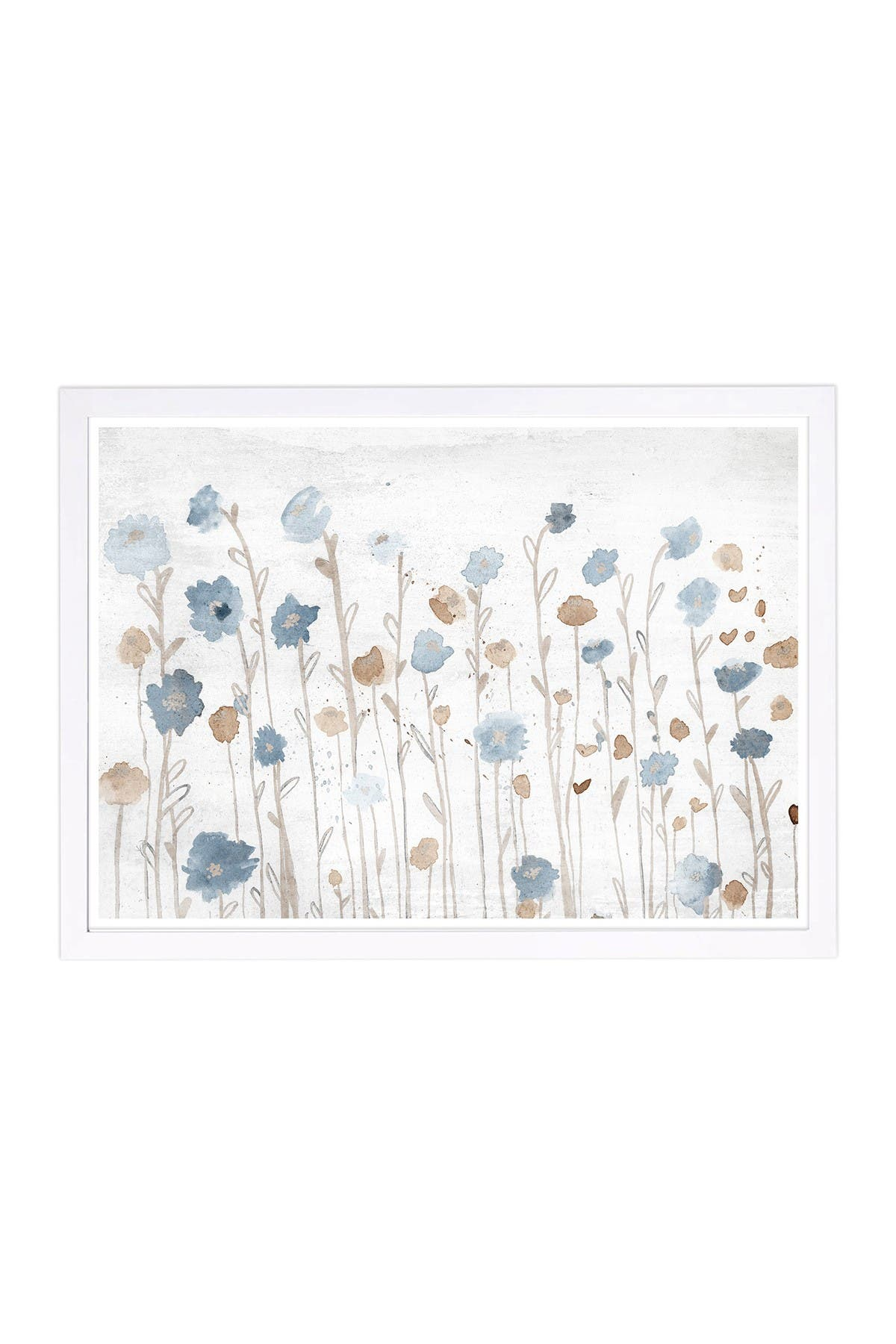 Wynwood Studio Beautiful Growth Light Blue Blue Framed Wall Art at Nordstrom Rack