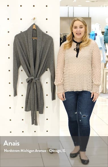 Essentials Wool & Cashmere Long Belted Cardigan, sales video thumbnail