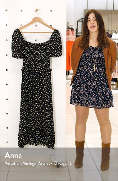 Meadow Floral Print Midi Dress, sales video thumbnail
