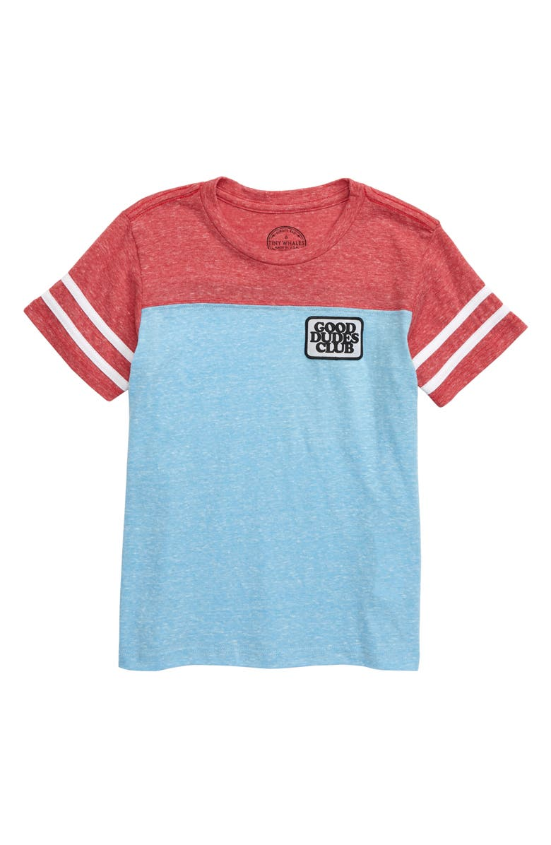 TINY WHALES Good Dudes Club T-Shirt, Main, color, 400