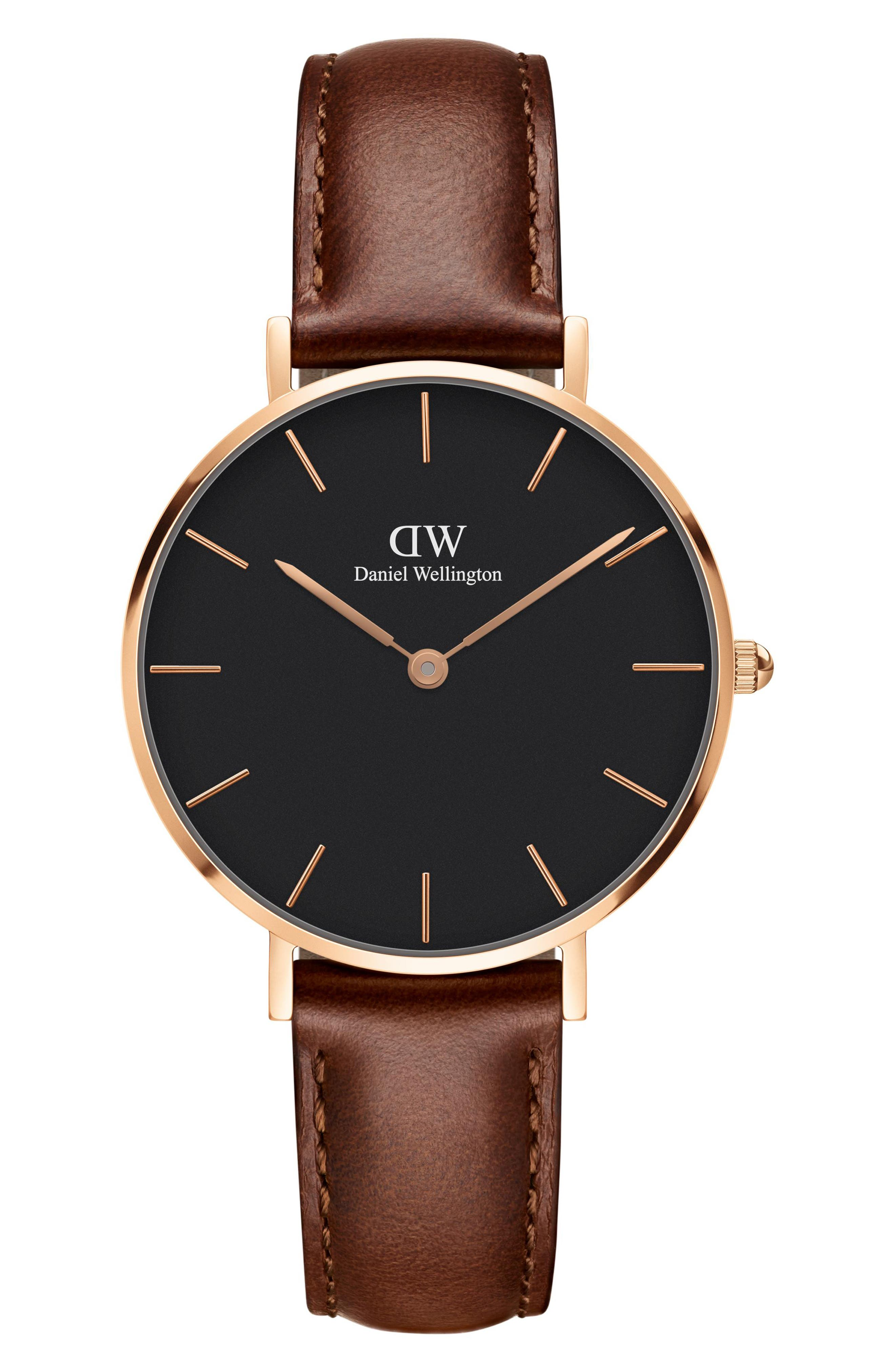 St. Mawes Leather Strap Watch