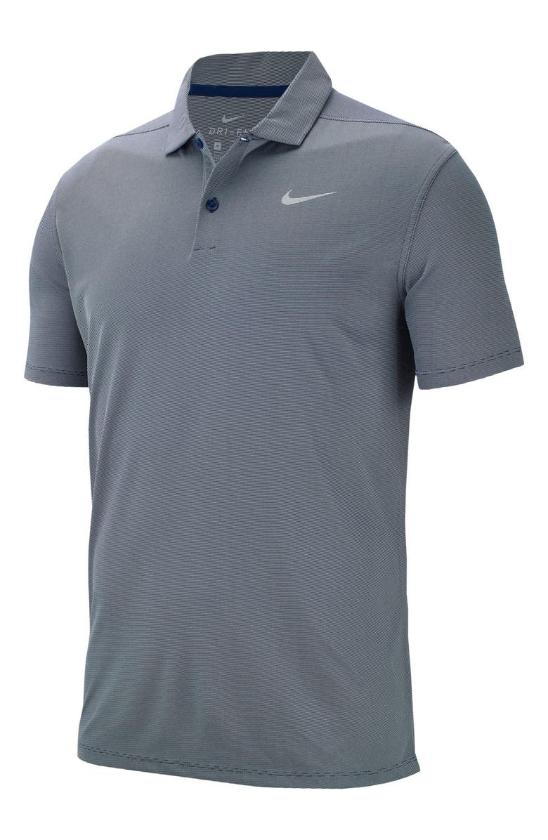 NIKE Victory Dri-FIT Textured Golf Polo, Main, color, BLUE VOID/ HEATHER