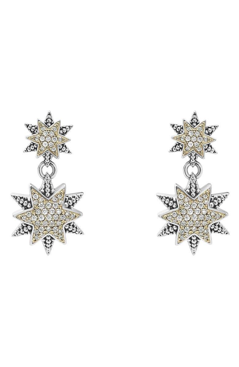 LAGOS North Star Drop Earrings, Main, color, DIAMOND