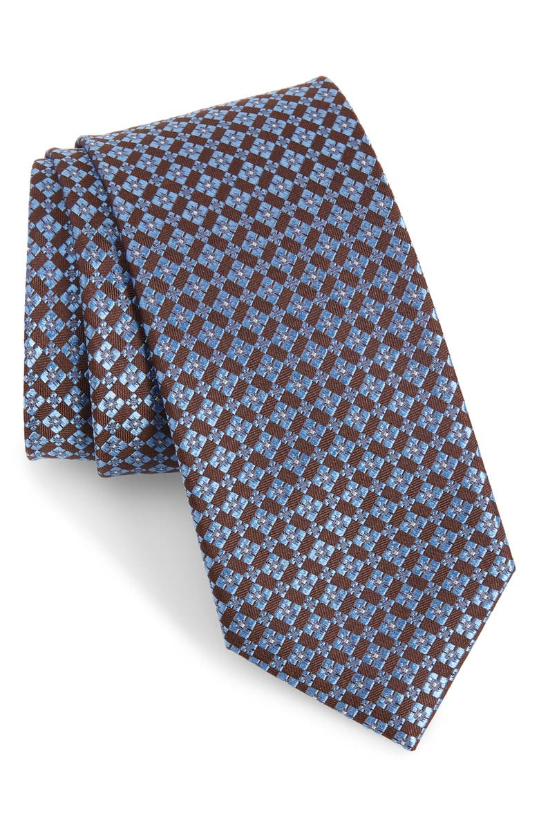 NORDSTROM MEN'S SHOP Coddington Geometric Silk Tie, Main, color, 210
