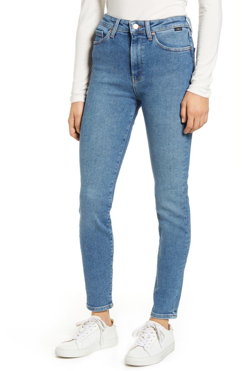 MAVI JEANS Scarlett High Waist Skinny Jeans, Main, color, MID LA VINTAGE