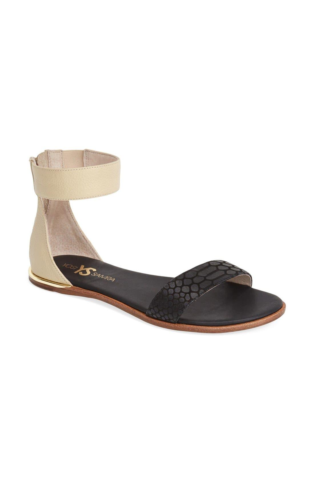 ,                             'Cambelle' Ankle Strap Sandal,                             Alternate thumbnail 7, color,                             003