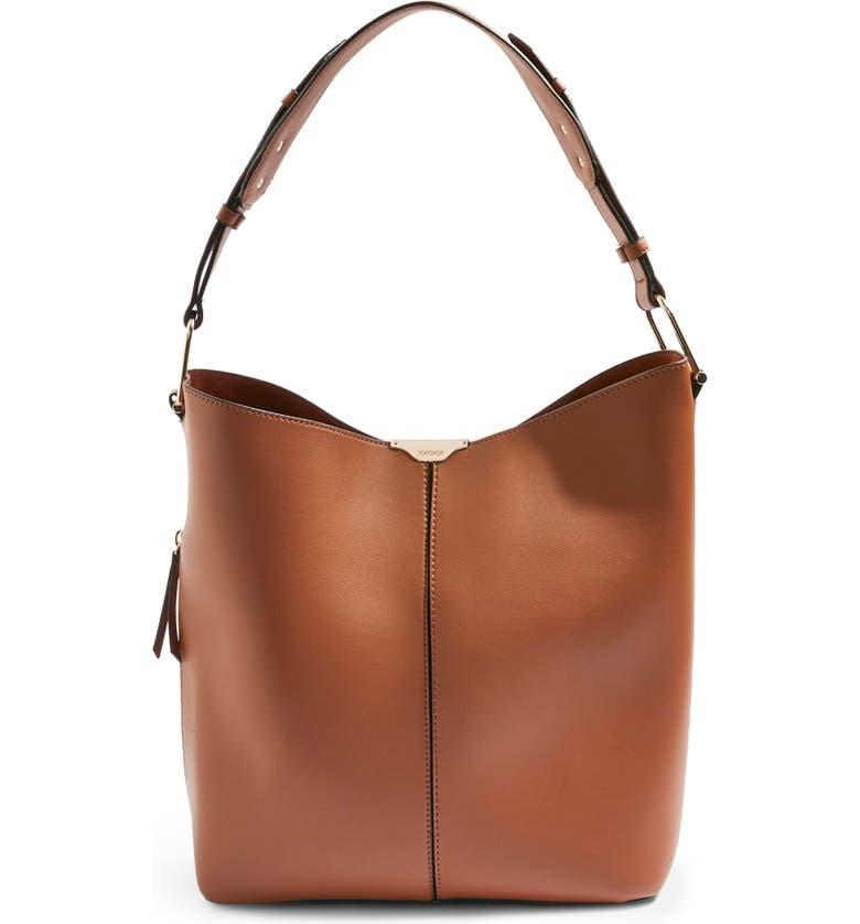 TOPSHOP Hettie Faux Leather Hobo Bag, Main, color, 210