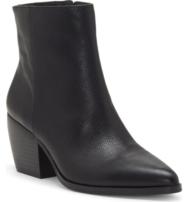 ENZO ANGIOLINI Mabbin Block Heel Bootie, Main, color, BLACK LEATHER