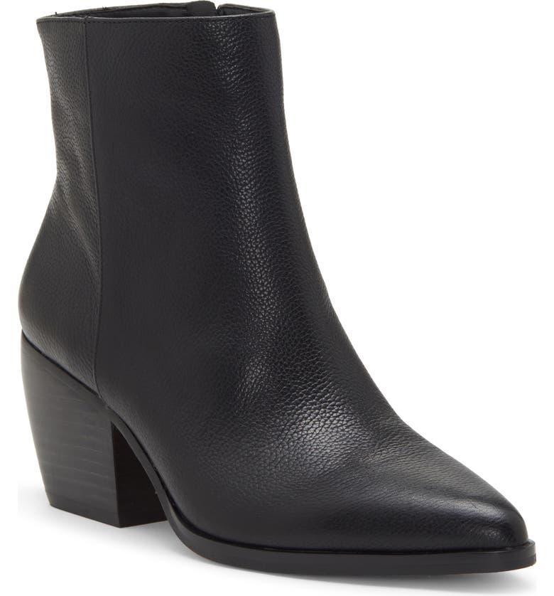 ENZO ANGIOLINI Mabbin Block Heel Bootie, Main, color, BLACK LEATHER