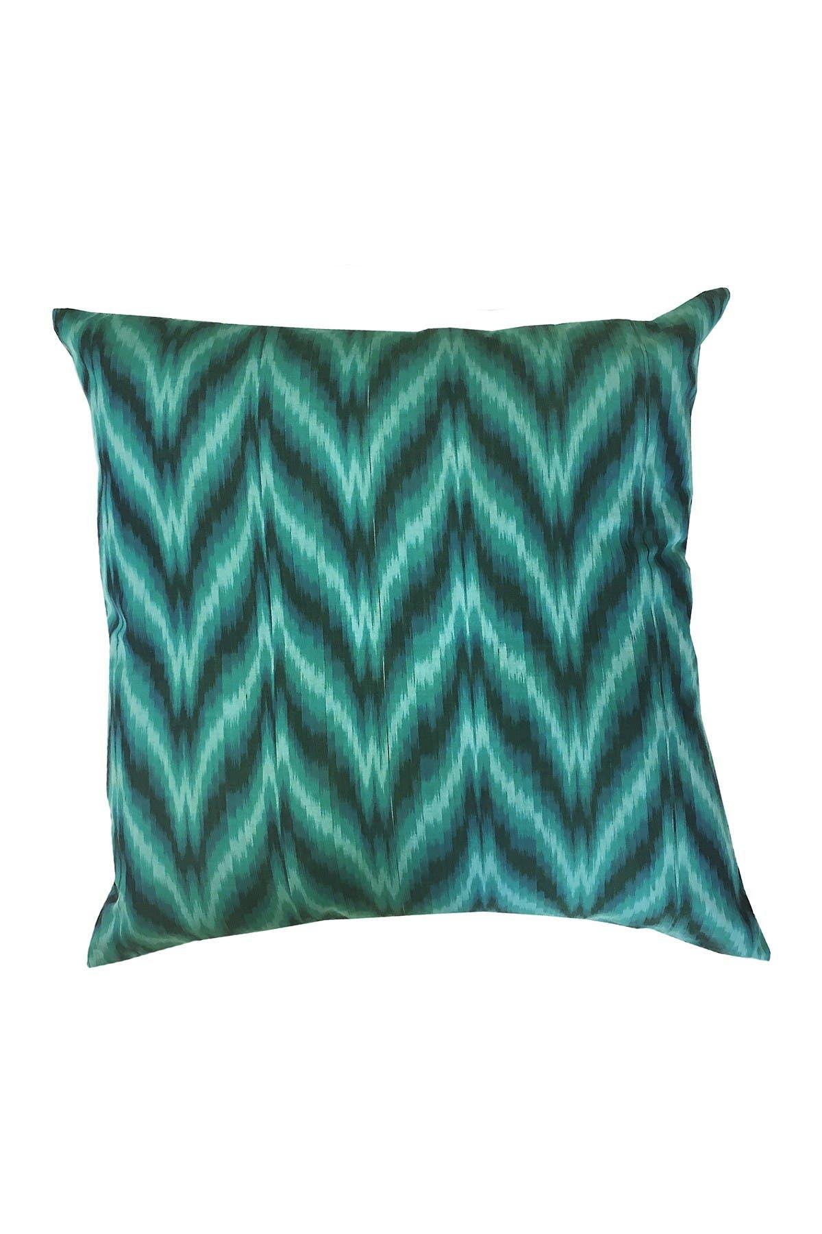 "Image of DIVINE HOME Green & Black Chevron Throw Pillow - 20""x20"""
