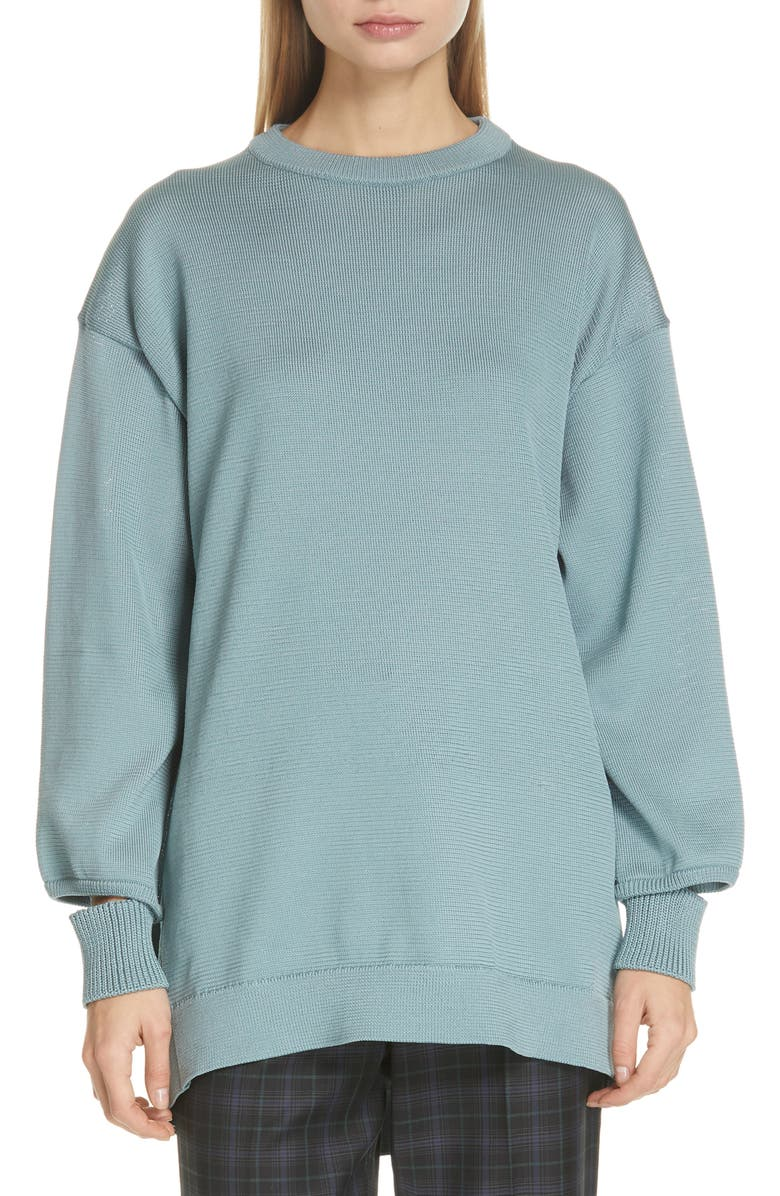 TIBI Oversize Sweater, Main, color, ASH MINT