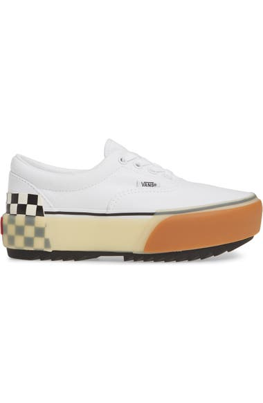 Era Stacked Check Platform Sneaker