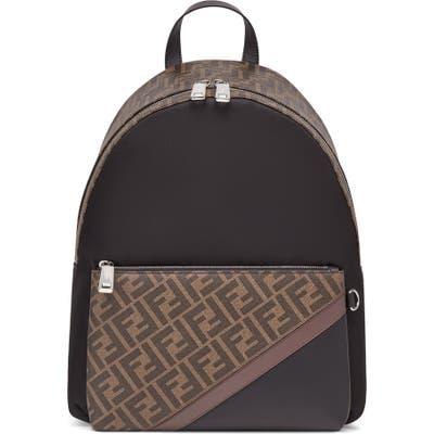 Fendi Double-F Logo Backpack - Brown