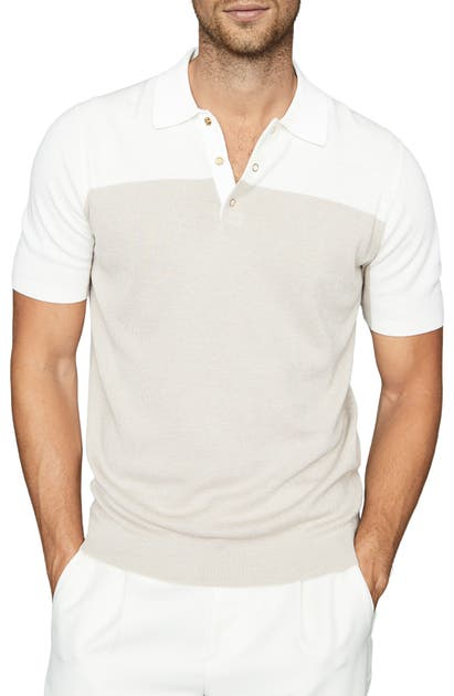 Reiss ALESSANO SLIM FIT COLORBLOCK SHORT SLEEVE POLO