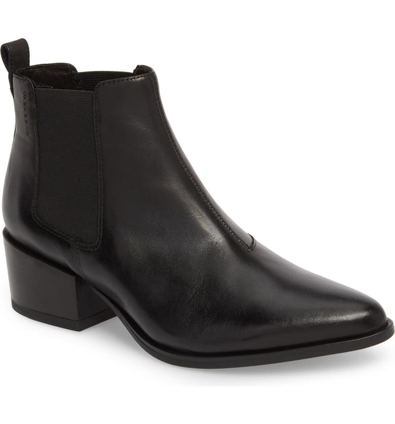VAGABOND SHOEMAKERS Vagabond Marja Chelsea Bootie, Main, color, BLACK LEATHER
