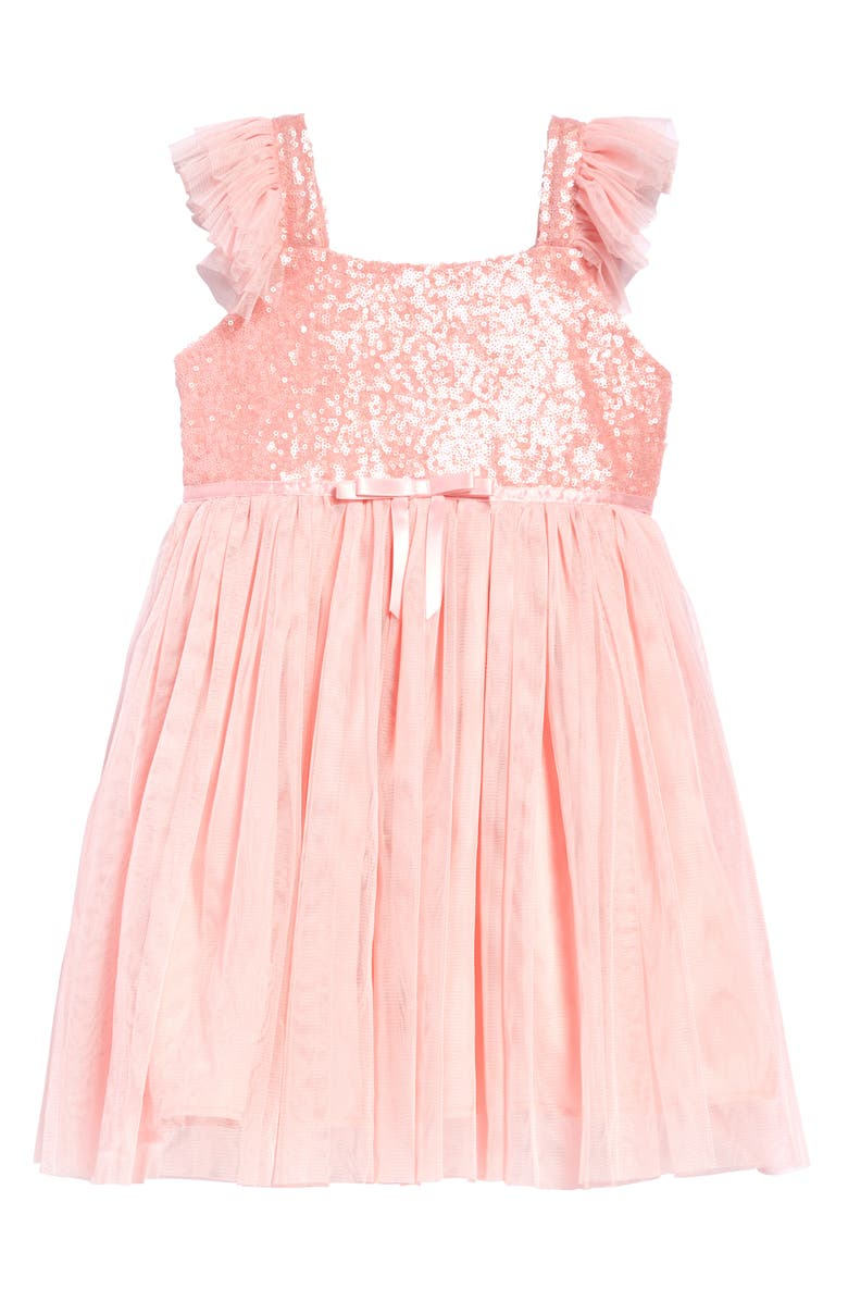 POPATU Sequin Bodice Tulle Dress, Main, color, LIGHT PINK