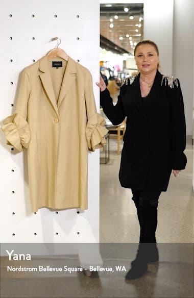 Emmie Ruffle Sleeve Coat, sales video thumbnail