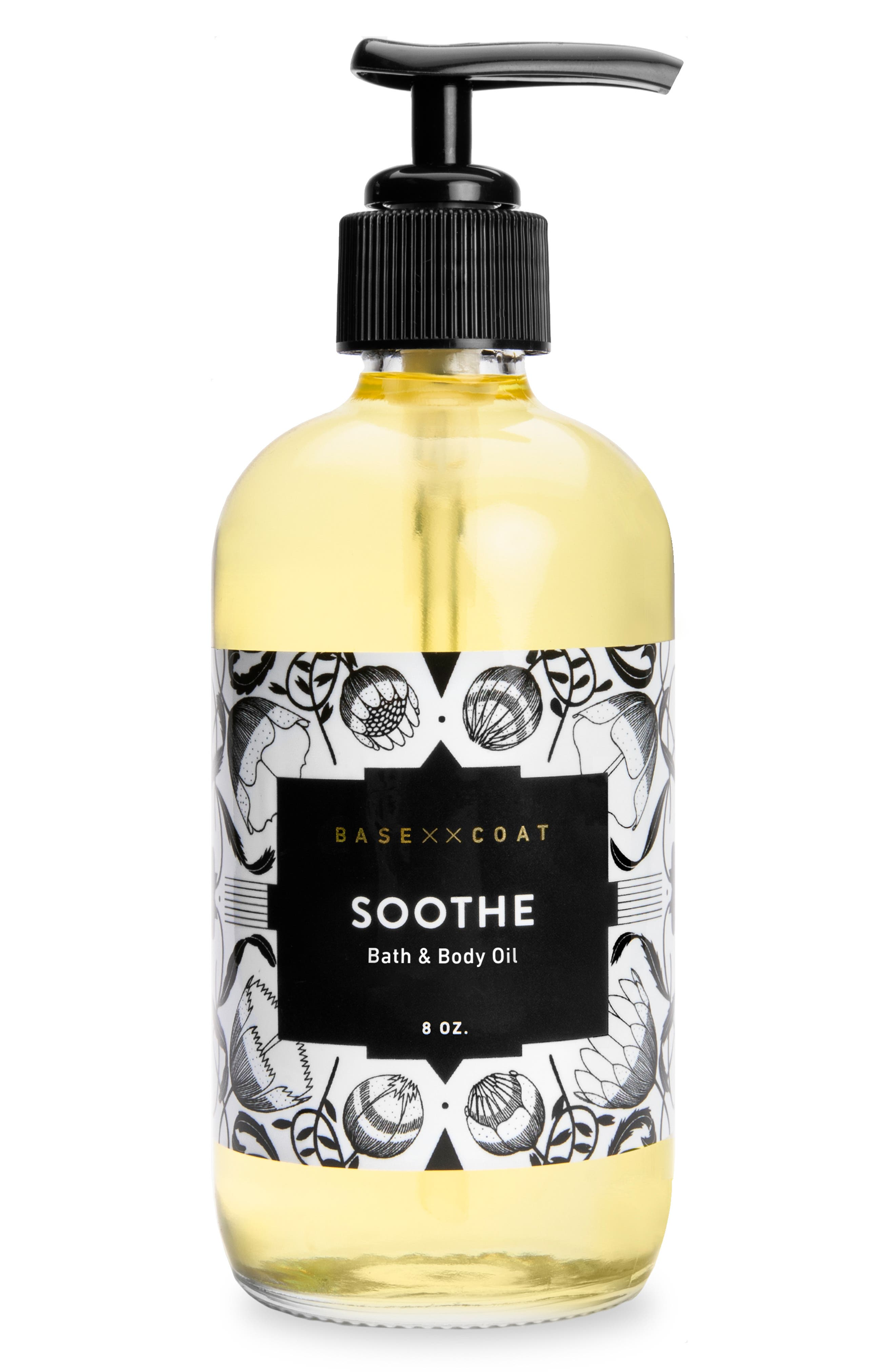 What it is: A bath and body oil that leaves skin feeling hydrated and nourished. What it does: This luxurious and versatile oil can be used on the body and face as a daily moisturizer, or add a few drops to water for a skin-detoxifying and mood-calming bath or nail soak. How to use: Add a few pumps to your foot or body bath to hydrate dry skin. Massage into skin as a daily moisturizer. Style Name: Base Coat Bath & Body Oil. Style Number: 5673970.