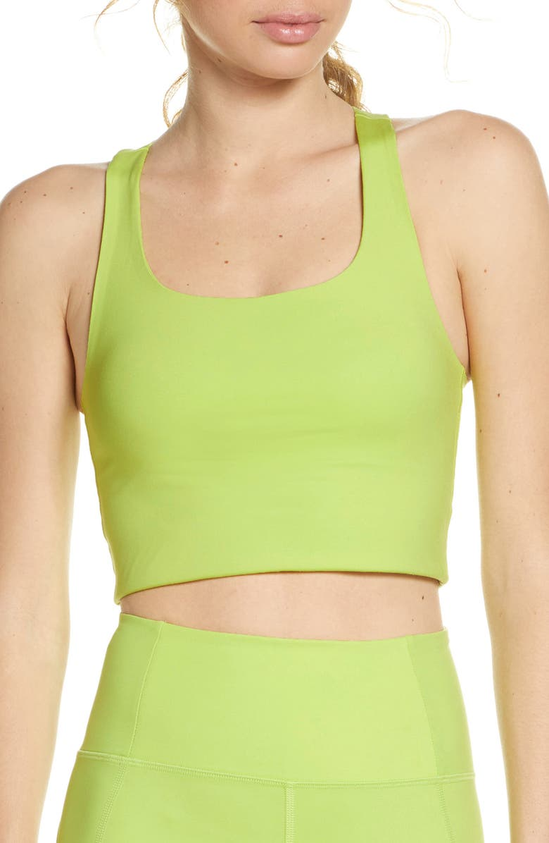 GIRLFRIEND COLLECTIVE Paloma Sports Bra, Main, color, LIME MULTI