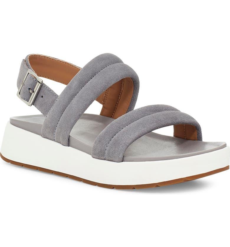 UGG<SUP>®</SUP> Lynnden Platform Sandal, Main, color, SOFT AMETHYST SUEDE