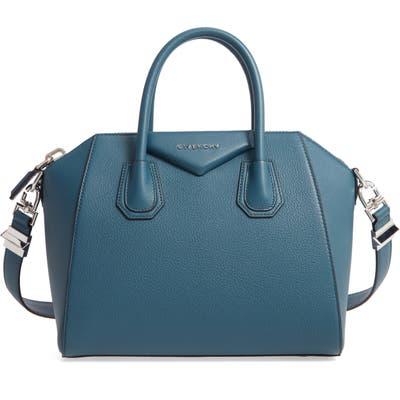 Givenchy Small Antigona Leather Satchel - Blue