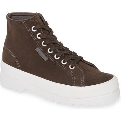 Superga 2341 Sue High Top Platform Sneaker, Grey